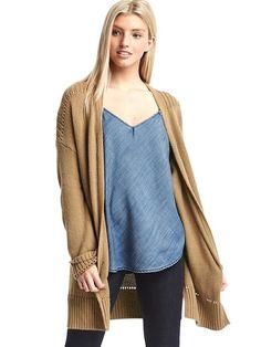 Pointelle open-front cardigan | Gap