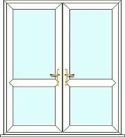 French Door with Mid rail, fully made to measure. Design, quote and order online easily with Just Value Doors today.