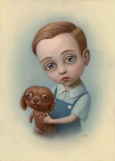 DOLL PARTS_Articolo sulla tematica dell'infanzia nell'arte _ marion peck boy with a puppy
