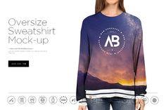 Oversize Sweatshirt Mock-up by dennysmockups on @creativemarket