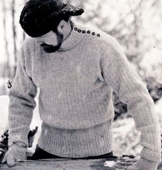 Finnish traditional fisherman's, The Tikkuri Sweater (or Luotolainen) from the Hailuoto Island, North Ostrobothnia region, Finland. Sweater Cardigan, Men Sweater, Knitted Slippers, Its A Mans World, Learn How To Knit, Knitting Projects, Knit Crochet, Knitwear, Mens Fashion