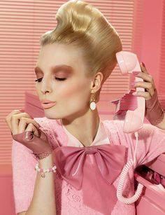 On Wednesday's we wear pink.  Or is it drink something pink??   Photograph by Miles Aldridge