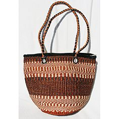 @Overstock - Handwoven by women in Kenya, these sisal netted handbags are stylish, unique and durable. This bag features a zipper opening and a soft nylon liner to keep everything insde where it needs to be.http://www.overstock.com/Worldstock-Fair-Trade/Fair-Trade-Large-Hand-Woven-Striped-African-Sisal-Handbag-Kenya/6737068/product.html?CID=214117 $32.99