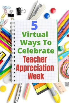 Check out these 5 creative and easy ways to celebrate Teacher Appreciation Week virtually! Get your kids involved and show some gratitude to the teachers we love. Thanks Teacher, Your Teacher, Teacher Gifts, Appreciation Quotes, Teacher Appreciation Week, Elementary Counseling, Career Counseling, Typing Skills, World Teachers