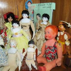 some of my small antique and vintage dolls