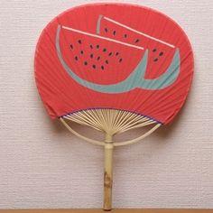 房州うちわ小町すいか Watermelon Uchiwa