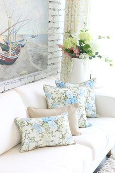 almofadas  floridas