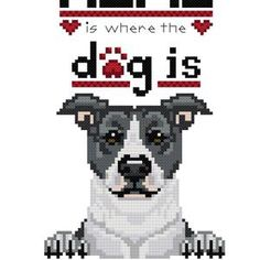 Where the Dog Is Tan Black Pug Cross Stitch Pattern   Etsy Free Cross Stitch Charts, Cross Stitch Bookmarks, Cross Stitch Patterns, Pitbull Lab, Pitbull Terrier, Cross Stitching, Cross Stitch Embroidery, Corgi Cross, Black Pit