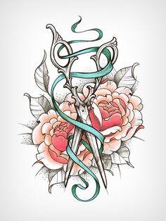 Kuvahaun tulos haulle scissors tattoo