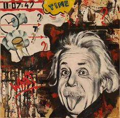 What time is it ? Oil on canvas 40x40cm | Ponzellini Devis What Time Is, Albert Einstein, Famous People, Oil On Canvas, Icons, Portrait, Art, Art Background, Headshot Photography