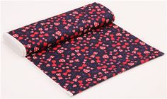 navy blue Cosmo bow ribbon oxford fabric from Japan 3