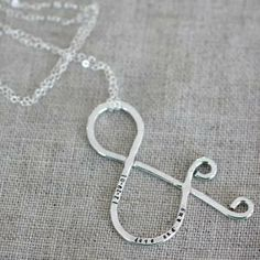 Ampersand Necklace (personalized) - $50 and available in sterling silver, gold filled or rose gold filled