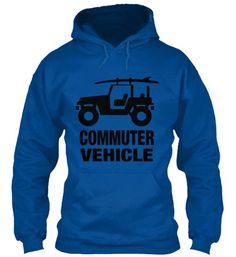 Men's Jeep Commuter Vehicle Surf Hoodie