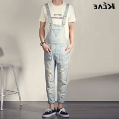 39.55$  Buy here - https://alitems.com/g/1e8d114494b01f4c715516525dc3e8/?i=5&ulp=https%3A%2F%2Fwww.aliexpress.com%2Fitem%2FFashion-Mens-Denim-Overalls-Bib-Jeans-2016-Brand-Designer-Casual-Slim-Fit-Skinny-Jeans-Man-Hole%2F32703418710.html - Fashion Mens Denim Overalls Bib Jeans 2016 Brand Designer Casual Slim Fit Skinny Jeans Man Hole Denim Jumpsuits Jeans Pants 39.55$