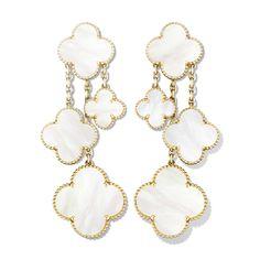 Van Cleef & Arpels magic alhambra earrings yellow gold