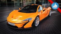 First stunning orange McLaren P1 supercar spotted in Dubai.