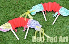 Chinese New Year Crafts for Kids - Dragon Puppets (free Printable) via www.redtedart.com