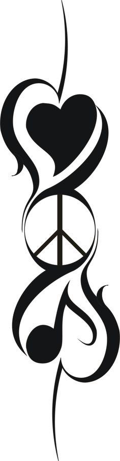 Music tattoo, music tattoos, music tattoo designs, new tattoos, l Love Music Tattoo, Music Symbol Tattoo, Music Tattoo Designs, Best Tattoo Designs, Music Tattoos, New Tattoos, Tatoos, Peace Sign Tattoos, Music Symbols