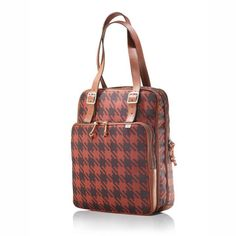 Red Houndstooth Eco Tote  by Suzanne Park