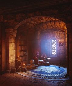 18 Enchanting Book Nooks Straight Out of a Fairy Tale : 18 Fairy Tale Reading Nooks Sure to Enchant You Which one is your favorite? Storybook Homes, Storybook Cottage, Fantasy Places, Fantasy World, Magical Home, Magical Forest, Dream Library, Library Room, Book Nooks