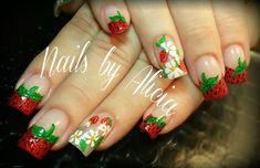 Strawberry nail art by nailsbyalicia from Nail Art Gallery
