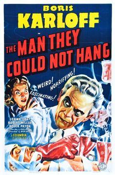 Boris Karloff Man They Could Not Hang Poster