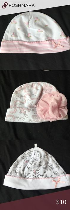 4 Brand New Hats!! These hats 🎩 are brand new they just don't have the tags. They all came with matching pajamas that have already been sold. My daughters head was just too small for them! :( Accessories Hats