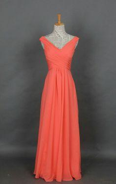 @Jess Liu Beach This is my favorite :) Elegant coral Bridesmaid dresses via etsy $110