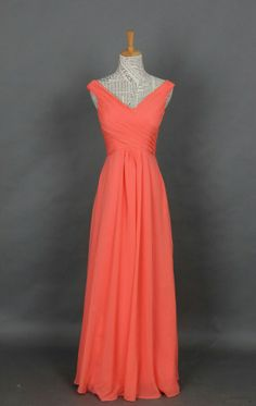 @Jess Liu Beach This is my favorite :) Elegant coral Bridesmaid dresses via etsy $110
