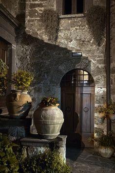 Streets of Civita di Bagnoregio, Province of Viterbo in central Italy.