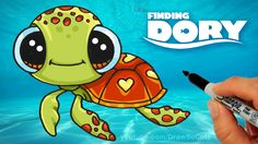 How to Draw Squirt from Finding Dory step by step Cute -Sea Turtle