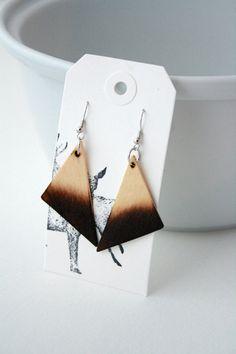 Natural Wood  Pyrography  Wood burning  Triangles  by thegraydeer, #handmade…
