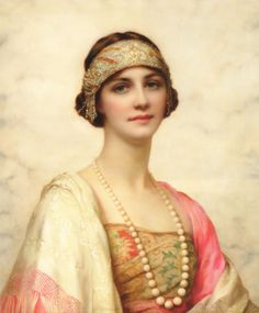 William Clarke Wontner, The Elegant Beauty, (date unkown, 19th Century - according to Christies).