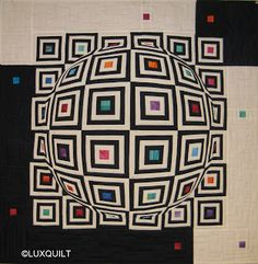 optical illusion quilts | the quilting is done....
