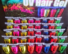 UV NEON BLUE Spike & Glow Hair Gel  Brilliant for Festivals  Great Product
