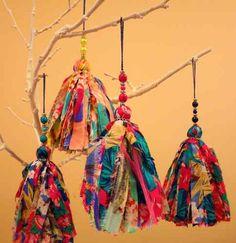 borlas decorativas de fibrana estampada