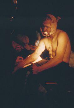Soldier with bandaged head wound, Vietnam