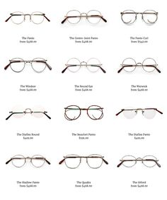 https://savileroweyewear.com/shop?category=Classic Panto glasses (and other metal wire rim styles) by Savile Row