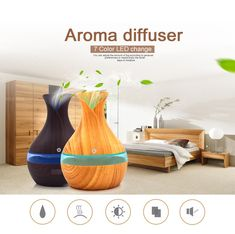 Spark a fantastic smell anywhere with this portable, USB powered electric essential oil diffuser. Aroma Diffuser, Essential Oil Diffuser, Essential Oils, Lead Change, Diffusers, Moisturizer, Electric, Usb, Color