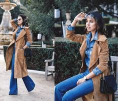 tan coat stylish outfit