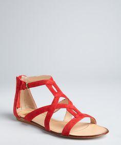 Dolce Vita red suede 'Ida' sandals |
