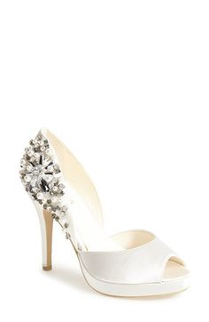 Free shipping and returns on Menbur 'Talo' d'Orsay Platform Pump at Nordstrom.com. Faceted crystals and pearly beads elevate a glamorous satin pump in an alluring peep-toe silhouette.