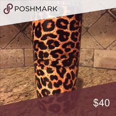 Leopard Print  20oz Stainless Steel Tumbler Brand new Leopard Print 20oz tumbler...made by same company that makes Yeti tumblers. Accessories