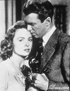 "The telephone scene in ""It's A Wonderful Life."" So romantic."