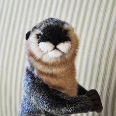 Hansa River Otter | Realistic Stuffed Otter. Ok not a turtle but a sea animal, very cute. Same brand!
