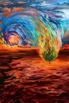 """Burn by ~OneLifeOneArt on DeviantArt. The artist says, """"Ferocious and transcendentally beautiful, the source of this river we call Life and the Universe flows on. Through us, as us, and all around us--It Is.""""    When I first looked at this, I saw the biblical burning bush. But I like the idea of Life and the Universe being us and all around us much better. We are the flames, we are in everything, and we can choose to use our fire for good--to bring light & warmth, to inspire ourselves…"""