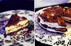 Minty cheesecake.
