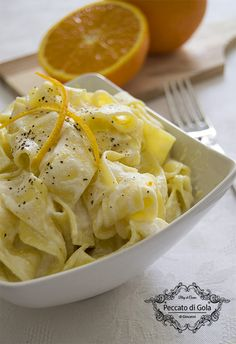 ricetta pasta ricotta e arancia, peccato di gola