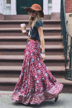 I love everything about this skirt, especially the color and print.