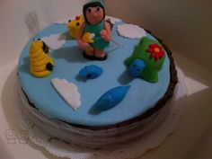 #birthday #cake #torta #compleanno #clouds #nuvole #tofly #volare #mordimibyemme #bees #api #tartaruga #turtles #birds #uccellini #babygirl #bambina